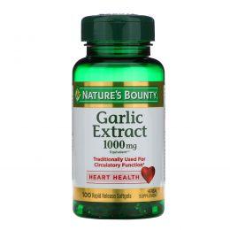 Nature's Bounty, Чеснок, 1000 мг, 100 мягких желатиновых капсул с быстрым высвобождением