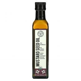 Pure Indian Foods, Organic Mustard Seed Oil, Cold Pressed, Virgin, 250 ml