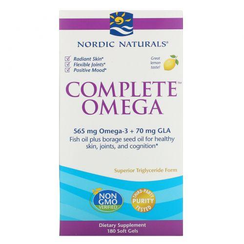 Nordic Naturals, Комплекс омега, со вкусом лимона, 1000 мг, 180 желатиновых капсул
