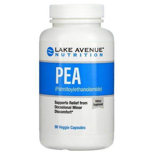 Lake Avenue Nutrition, ПЭА (пальмитоилэтаноламид), 300 мг, 90 растительных капсул