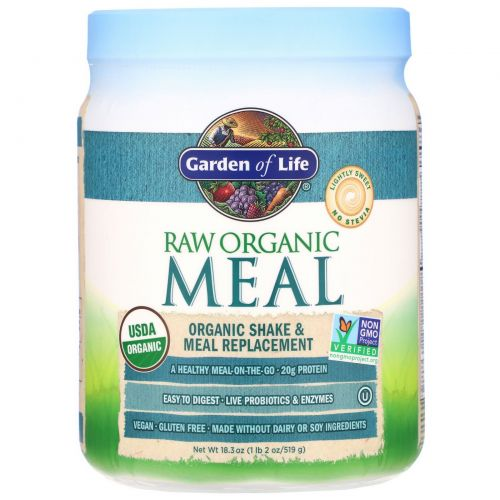 Garden of Life, RAW Organic Meal, Organic Shake & Meal Replacement, 18.3 oz (519 g)