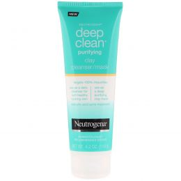 Neutrogena, Deep Clean, Purifying, Clay Cleanser/Mask, 4.2 oz (119 g)