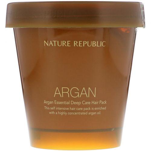 Nature Republic, Argan Essential Deep Care Hair Pack, 200 ml