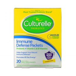 Culturelle, Probiotics, Immune Defense Packets, Mixed Berry Flavor, 20 Once Daily Single Serve Packets