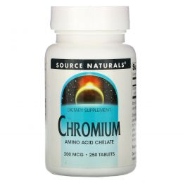Source Naturals, Хром, 200 мкг, 250 таблеток