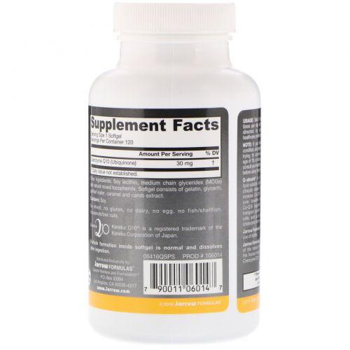 Jarrow Formulas, Q-absorb Co-Q10, 30 мг, 120 Капсул