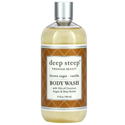 Deep Steep, Гель для душа, коричневый сахар и ваниль, 237 мл