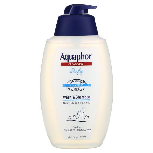 Aquaphor, Детский шампунь и гель для душа, натуральный экстракт ромашки, 25,4 унций (750 мл)
