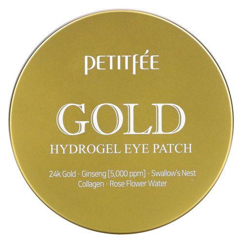 Petitfee, Повязка для глаз с Золотым Гидрогелем, 60 шт