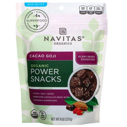 Navitas Organics, Organic, энергетическая закуска, какао и годжи, 8 унций (227 г)