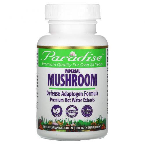 Paradise Herbs, Императорский гриб, формула для иммунитета, 60 растительных капсул