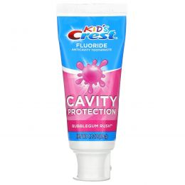 Crest, Kids, Fluoride Anticavity Toothpaste, Bubblegum Rush, 4.2 oz (119 g)