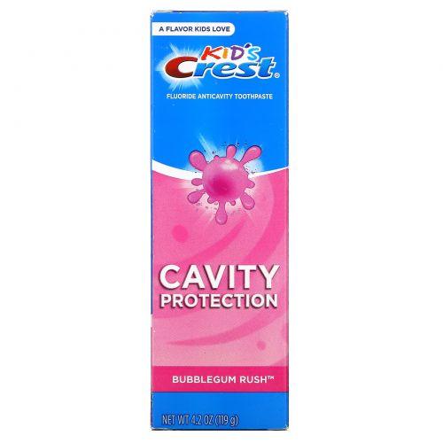 Crest, Kids, Fluoride Anticavity Toothpaste, Bubblegum Rush, 4.2 oz (119 g)