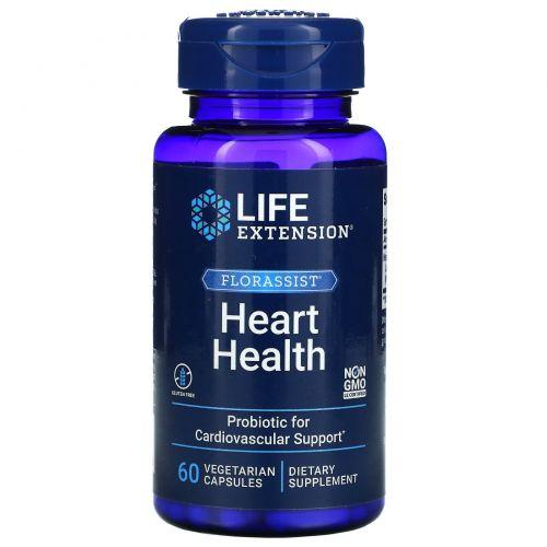 Life Extension, Пробиотик FlorAssist для здоровья сердца, 60 капсул