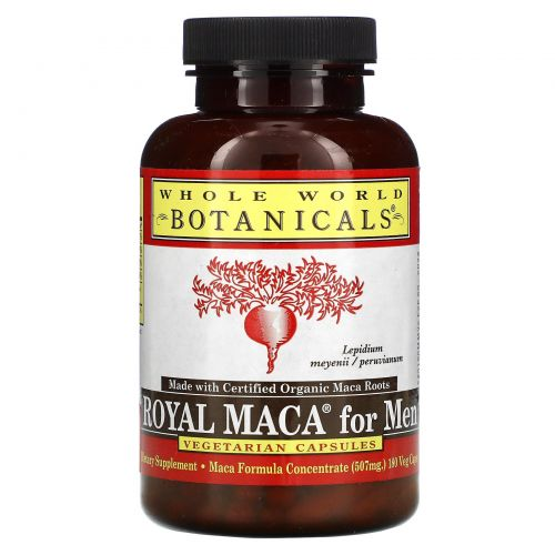 Whole World Botanicals, Royal Maca for Men, 500 mg, 180 Gelatinized Veggie Caps