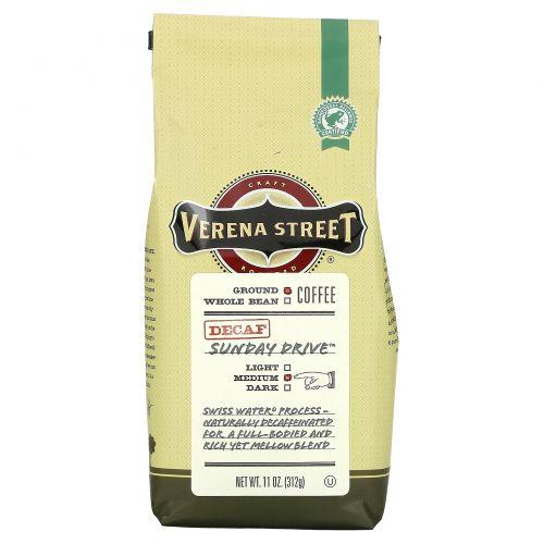 Verena Street, Sunday Drive, Ground Coffee, Medium Roast, Decaf, 11 oz (312 g)