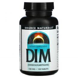 Source Naturals, Дииндолилметан (ДИМ), 100 мг, 120 Таблеток