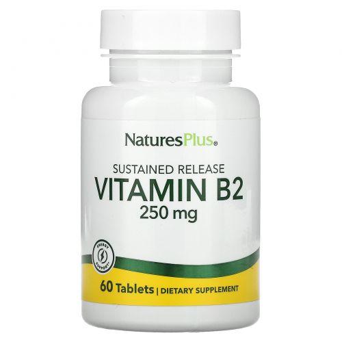Nature's Plus, Витамин B-2, 250 мг, 60 таблеток