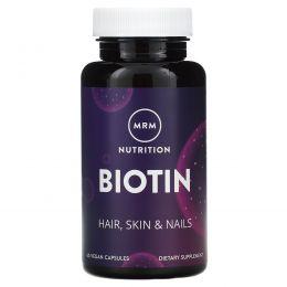 MRM, Биотин, 5 мг, 60 вегетарианских капсул