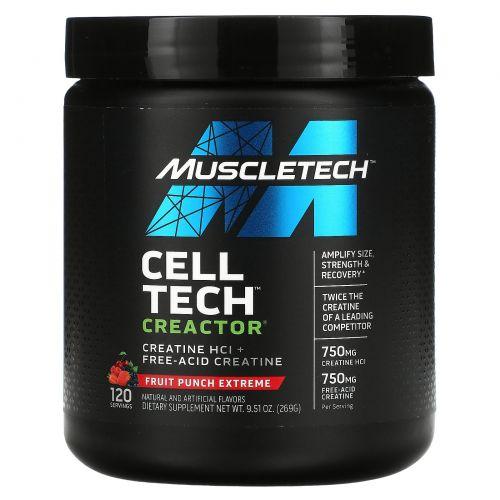 Muscletech, Creactor, экстремальный фруктовый пунш, 269 г (9,51 унций)