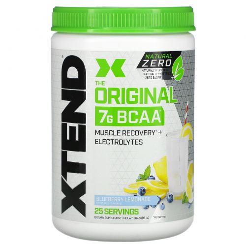 Scivation, Xtend Natural Zero, The Original, 7г аминокислот с разветвленной цепью (BCAA), вкус «Черничный лимонад», 367,5г