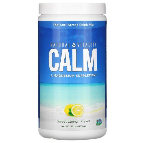 Natural Vitality, Естественное спокойствие, сладкий лимонный вкус, 16 унций (453 г)