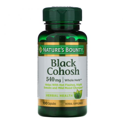 Nature's Bounty, Черный стеблелист, 540 мг, 100 капсул