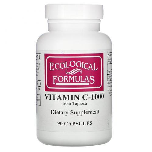 Cardiovascular Research Ltd., Экологические препараты, витамин C-1000, 90 капсул