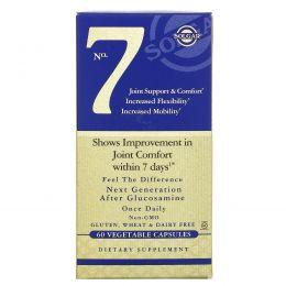Solgar, No.7, поддержка и комфорт для суставов, 60 вегетарианских капсул