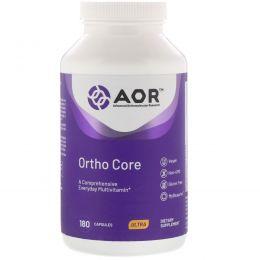 Advanced Orthomolecular Research AOR, Ortho-Core, усовершенствованная формула мультивитаминов/минералов, 180 капсул