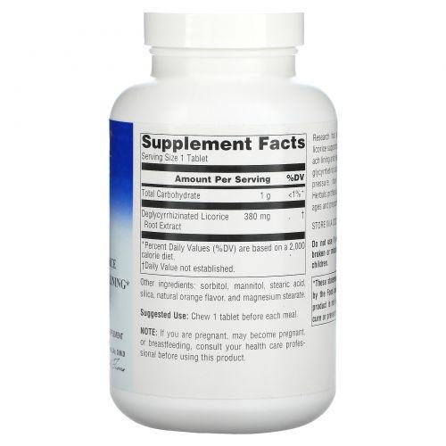 Planetary Herbals, DGL, деглицирризованная солодка, 200 жевательных таблеток