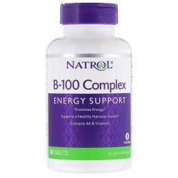 Natrol, Комплекс B-100, 100 таблеток