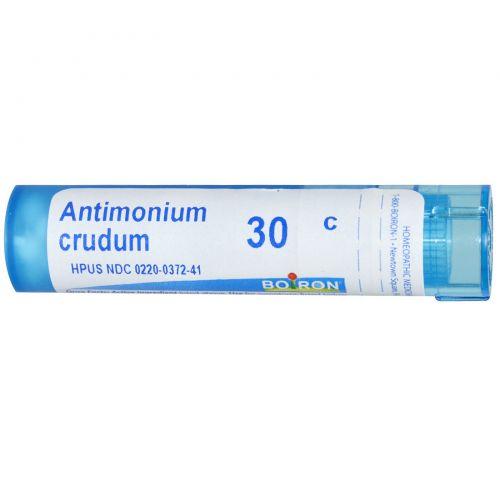 Boiron, Single Remedies, Антимониум крудум, 30C, прибл. 80 гранул