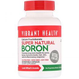 Vibrant Health, Super Natural Boron, 60 растительных капсул