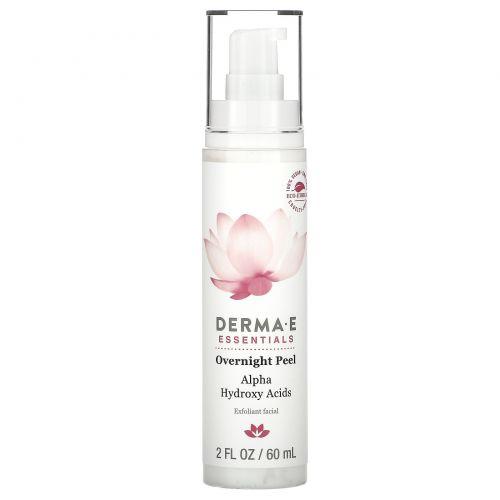Derma E, Overnight Peel, Exfoliant Facial, 2 fl oz (60 ml)