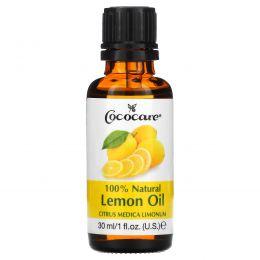 Cococare, 100% натуральное масло лимона, Citrus Medica Limonum, 1 жидкая унция (30 мл)
