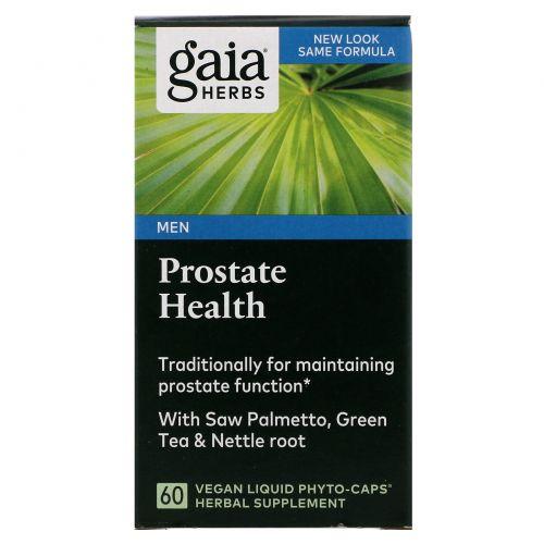 Gaia Herbs, Здоровье простаты, 60 жидких вегетарианских фито-капсул