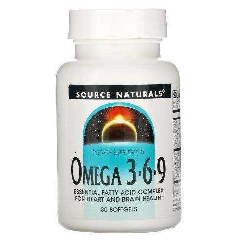 Source Naturals, Omega 3·6·9, 30 Softgels