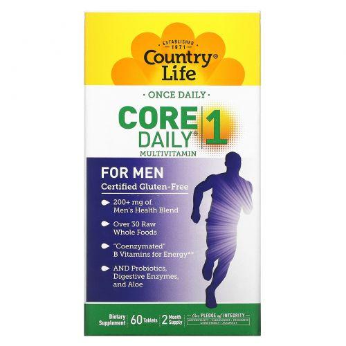 Country Life, Core Daily-, Мультивитамины для мужчин, 60 таблеток