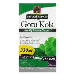 Nature's Answer, Готу кола, стандартизированный травяной экстракт, 300 мг, 60 вегетарианских капсул