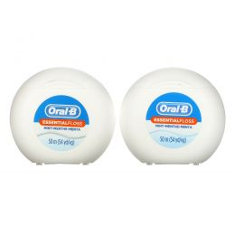 Oral-B, Essential Floss Value Pack, Mint, 2 Pack, 54.6 yd (50 m) Each