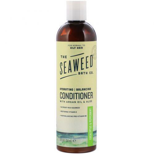 """Seaweed Bath Co., Кондиционер """"Натуральный баланс Аргана"""", эвкалипт и перечная мята, 360 мл (12 жидких унций)"""