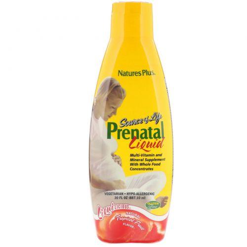 Nature's Plus, Source of Life, Prenatal Liquid, Вкус натуральных тропических фруктов, 887.10 мл