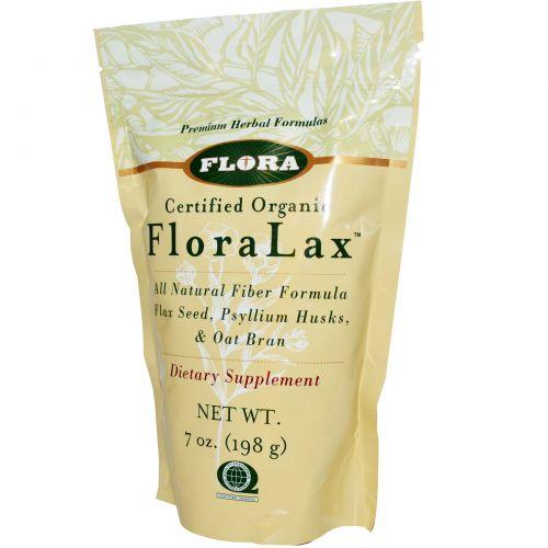Flora, Сертифицированная органическая формула FloraLax, 198 г