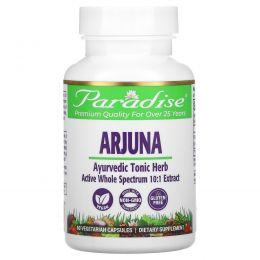 Paradise Herbs, Арджуна, 60 растительных капсул