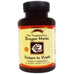 Dragon Herbs, Return to Youth (возвращение в молодость), 500 мг, 100 вегетарианских капсул