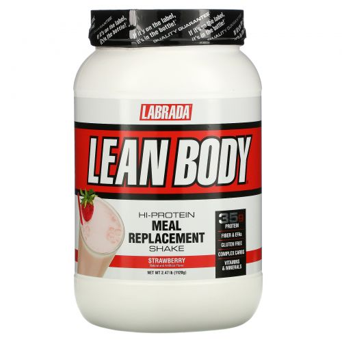 Labrada Nutrition, Стройное тело, замена еды, клубника, 2,47 фунта (1120 г)
