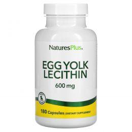 Nature's Plus, Egg Yolk Lecithin, 600 mg, 90 Vegetarian Capsules