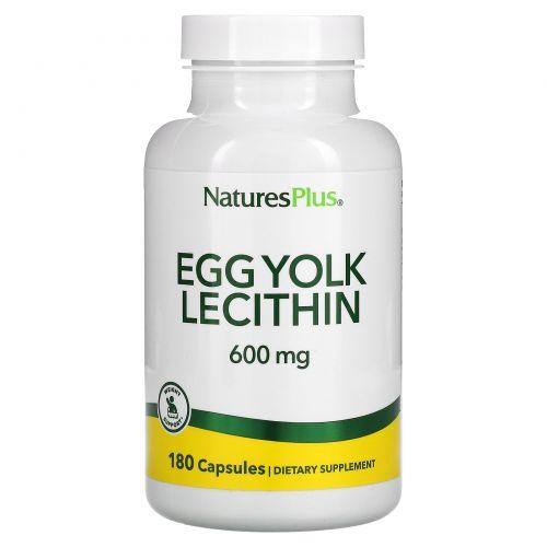 Nature's Plus, Лецитин из яичного желтка, 600 мг, 90 вегетарианских капсул