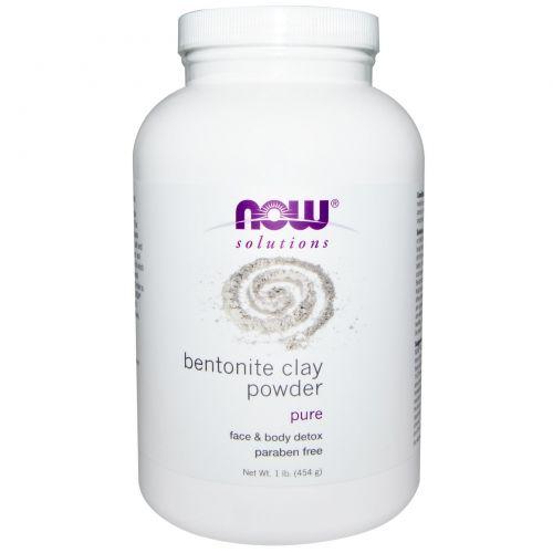 Now Foods, Порошок бентонитовой глины, 1 фунт (454 г)